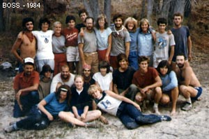 BOSS, Boulder Outdoor Survival School class, 1984.
