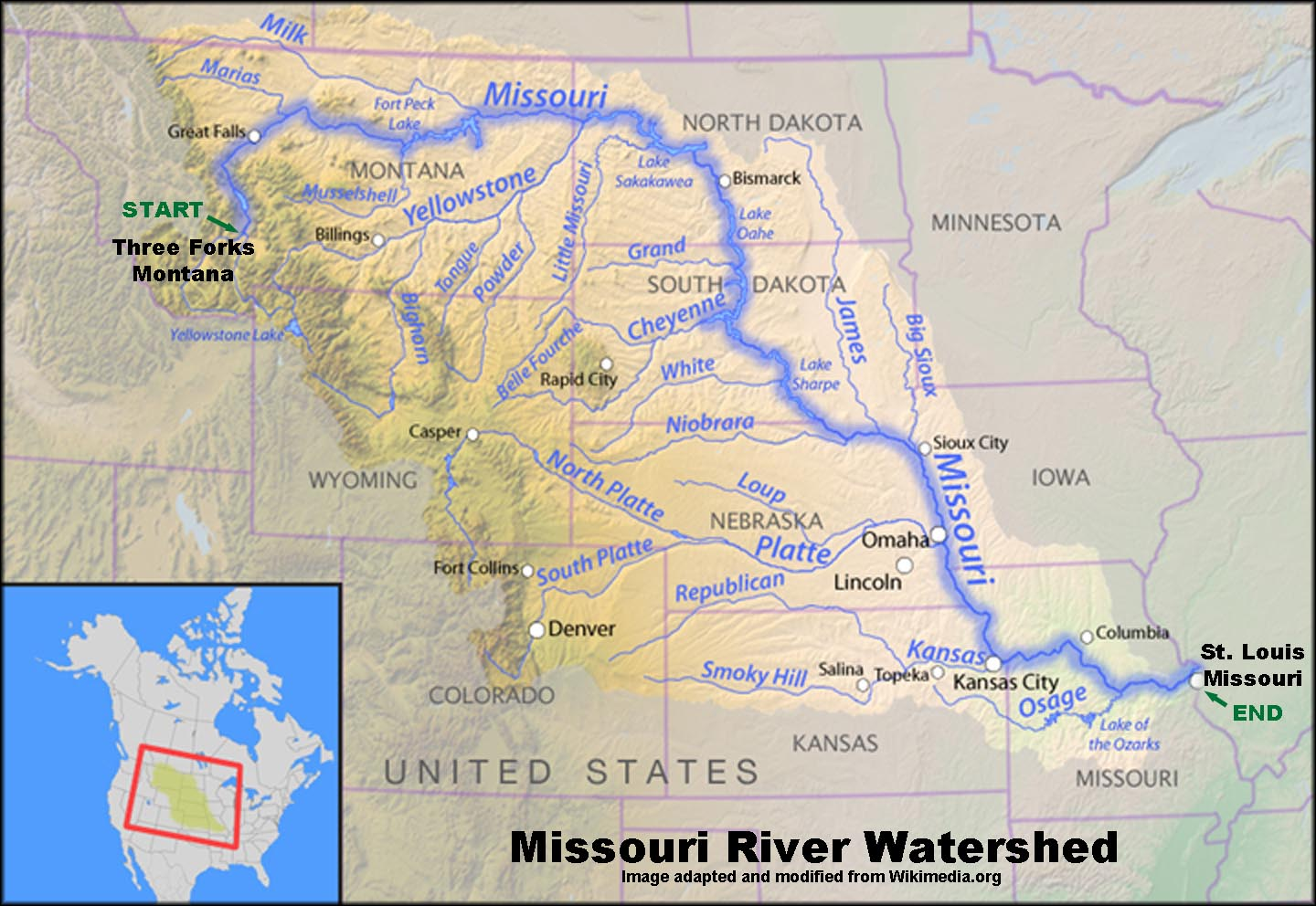Missouri River Watershed.