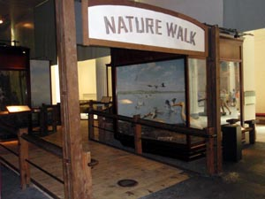 Indoor sign for Nature Walk.