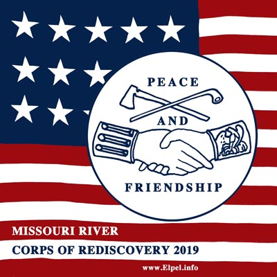 Peace and Friendship logo for the 2019 Corps of Rediscovery Expedition.